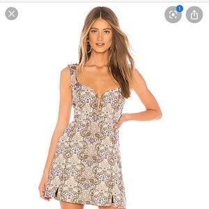 """For love and lemons """"Brocade Tapestry Mini Dress"""""""
